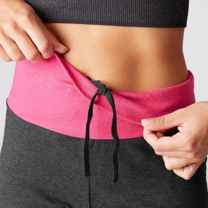 Damesshort in biokatoen voor zachte yoga grijs / roze