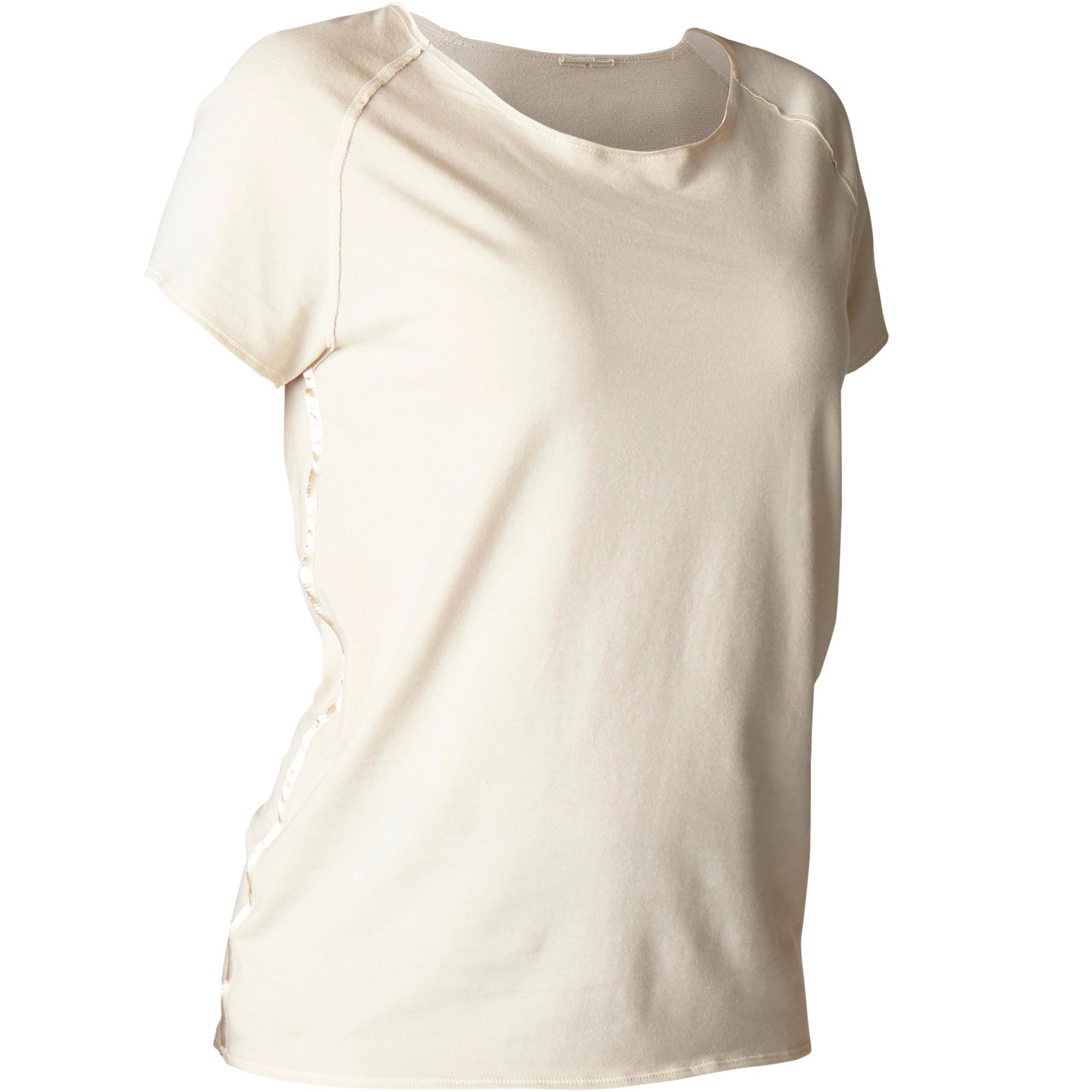 Domyos Dames T-shirt in biokatoen voor zachte yoga kopen