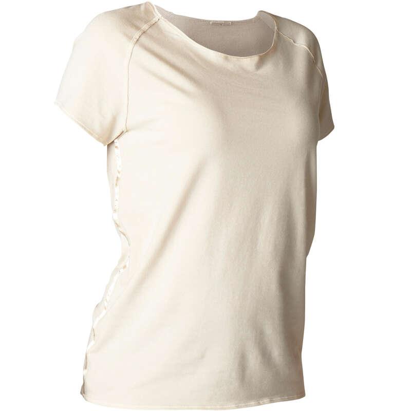 ABBIGLIAMENTO YOGA DONNA Yoga - T-shirt donna yoga beige DOMYOS - Abbigliamento yoga