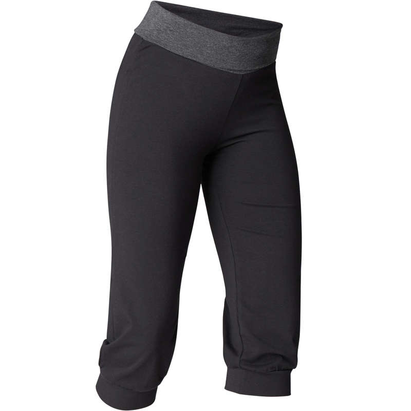 WOMAN YOGA APPAREL Fitness and Gym - Women's Gentle Yoga Bottoms DOMYOS - Gym Activewear