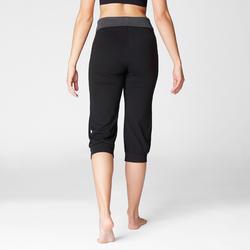 Women's Organic Cotton Gentle Yoga Cropped Bottoms - Black/Grey