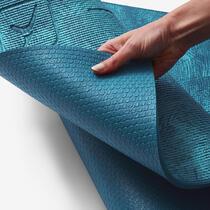 85ef67551838 Jógaszőnyeg kímélő jógához confort, 8 mm, kék, dzsungel mintás ...