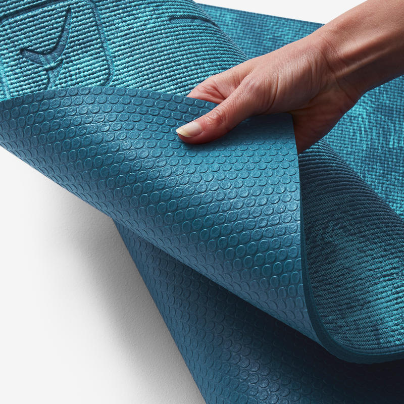 Comfort Gentle Yoga Mat 8 mm - Jungle Blue Print  9c788ba1caa13