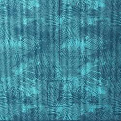 Yogamatte Komfort für sanftes Yoga 8mm blau bedruckt mit Dschungelmuster