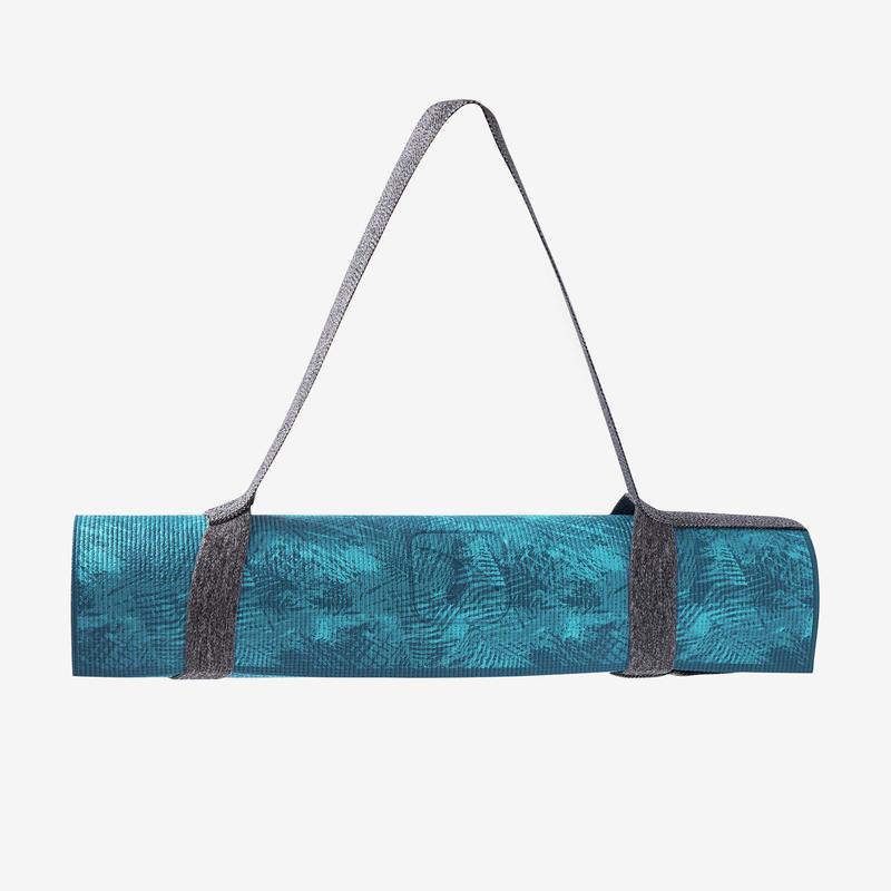 Comfort Gentle Yoga Mat 8 mm - Jungle Blue Print 0a58a194d2d79