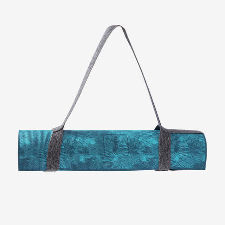 Comfort Gentle Yoga Mat 8 mm - Jungle Blue Print