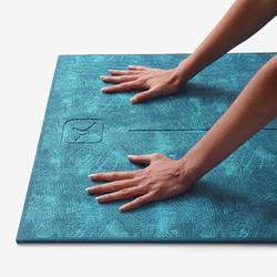 舒緩瑜珈墊8 mm Comfort - 藍色叢林印花