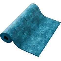 TAPIS YOGA DOUX CONFORT 8 MM IMPRIME BLEU JUNGLE