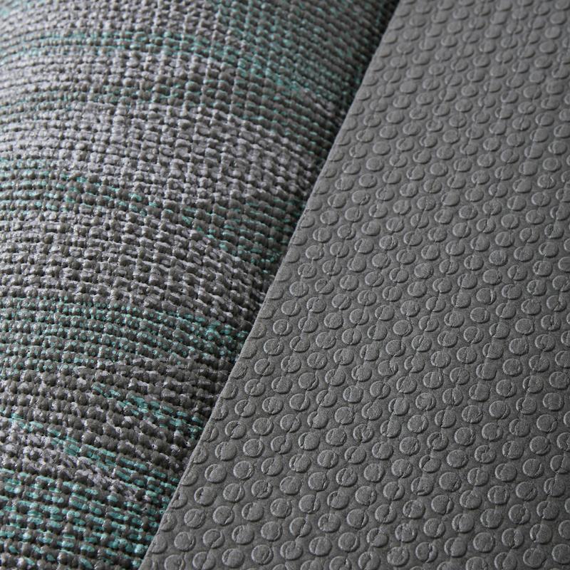 e728ee06752d Jógaszőnyeg kímélő jógához Confort, 8 mm, szürke mintás | Domyos by ...