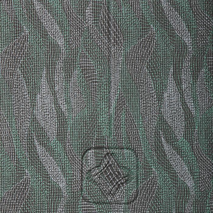Yogamat Comfort voor zachte yoga 8 mm print grijs