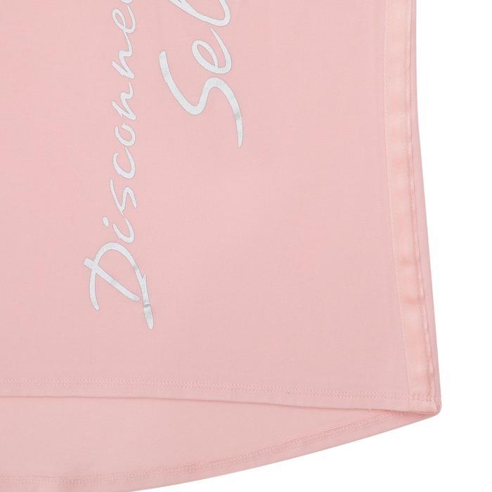 女款舒緩瑜珈有機棉T恤 - 粉紅色