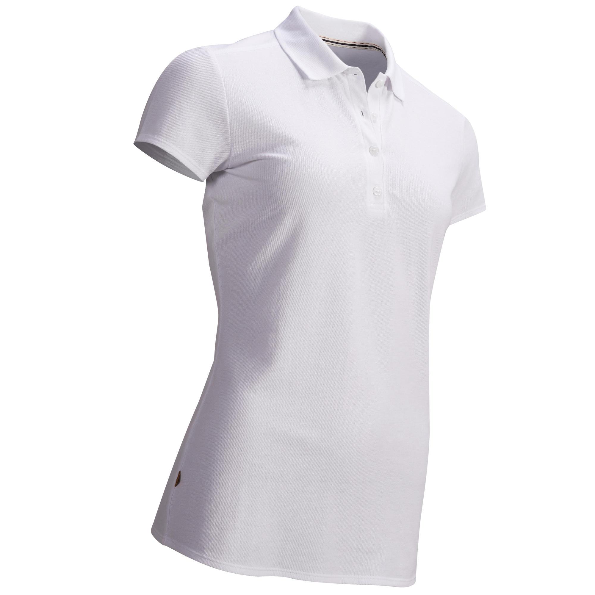 polo de golf manche courte femme temps tempere blanc inesis golf. Black Bedroom Furniture Sets. Home Design Ideas