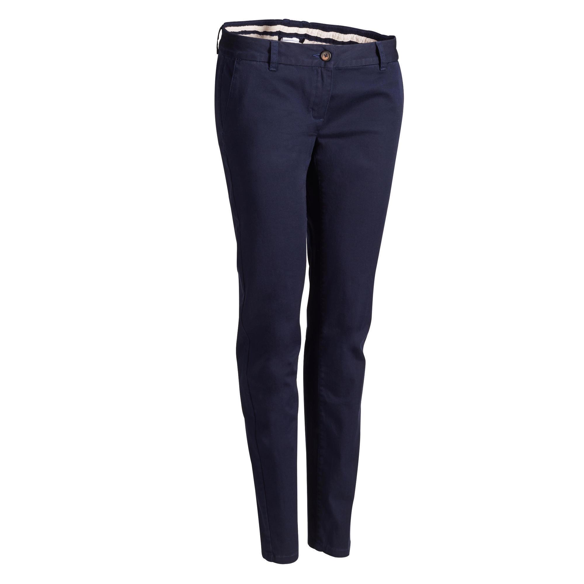 Golfhose Damen marineblau | Sportbekleidung > Sporthosen > Sonstige Sporthosen | Inesis