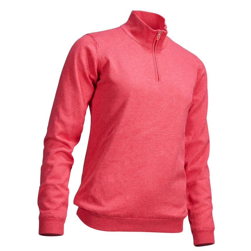 ABBIGLIAMENTO GOLF DONNA TEMPO MITE Golf - Maglione antivento donna rosa INESIS - Abbigliamento e scarpe golf