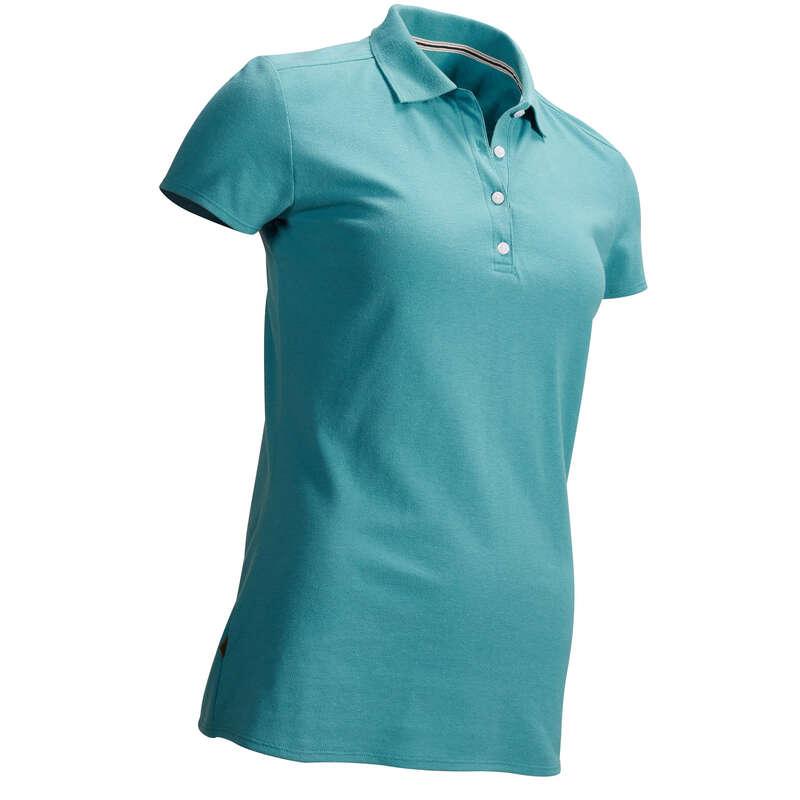 WOMENS MILD WEATHER GOLF CLOTHING Golf - W MW POLO DARK TURQUOISE INESIS - Golf Clothing