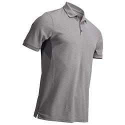 Golf Poloshirt Herren atmungsaktiv grau meliert