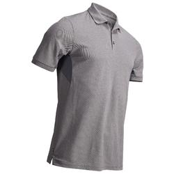 MEN'S MOTTLED BLACK WARM WEATHER GOLFING POLO