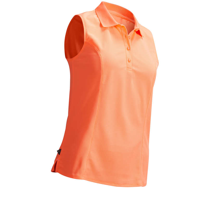WOMENS WARM WEATHER GOLF CLOTHING - ORANGE W WW POLO INESIS
