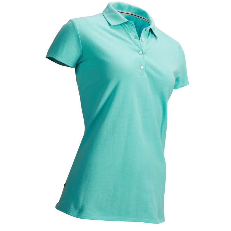 WOMENS MILD WEATHER GOLF CLOTHING Golf - TURQUOISE GREEN W MW POLO INESIS - Golf Clothing