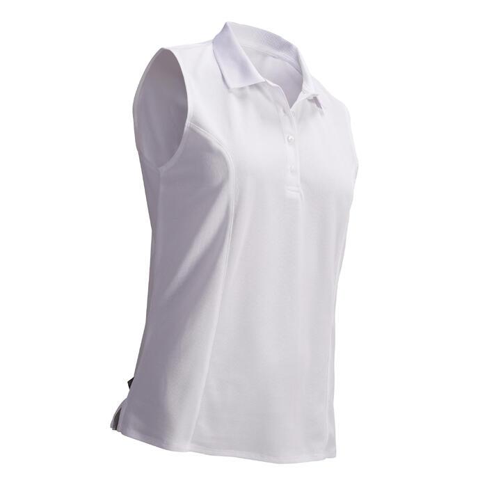 Golfpolo zonder mouwen voor dames warm weer wit