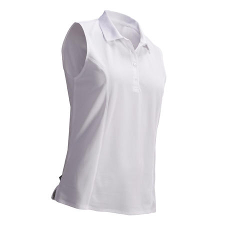 Women's Golf Breathable Polo Shirt - White