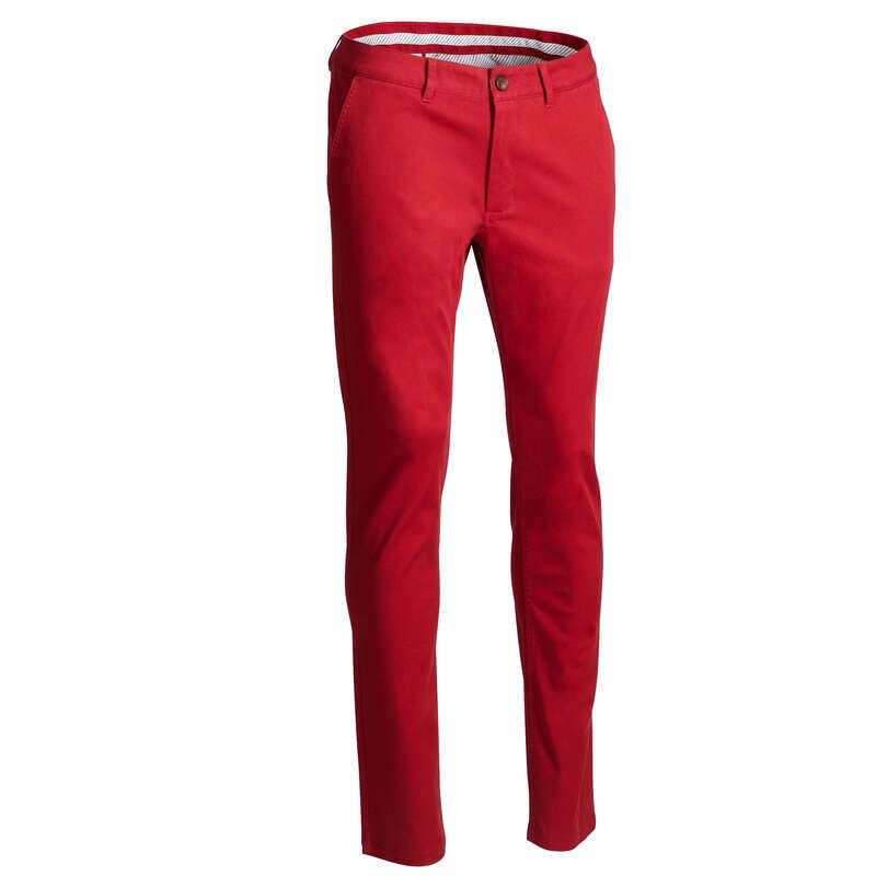 ABBIGLIAMENTO GOLF UOMO TEMPO MITE Golf - Pantaloni golf uomo rossi INESIS - Pantaloni golf