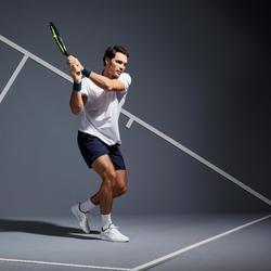Tennisschuhe TS100 mit Schnürung Multicourt Herren weiß