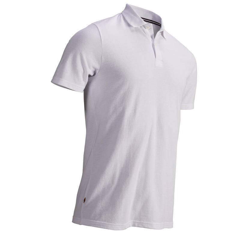 WHITE MEN'S SHORT-SLEEVED MILD WEATHER GOLFING POLO