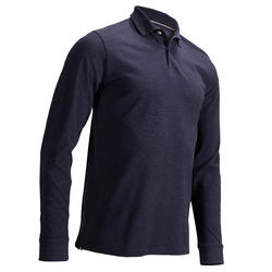 MEN'S MILD WEATHER LONG-SLEEVED GOLF POLO BLUE DENIM