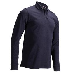 Men's Golf Long Sleeve Polo Shirt - Denim Blue