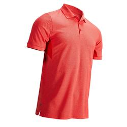MEN'S MOTTLED RED WARM WEATHER GOLFING POLO