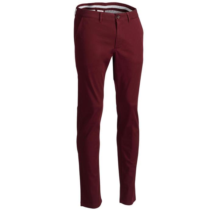 男款高爾夫長褲-酒紅色