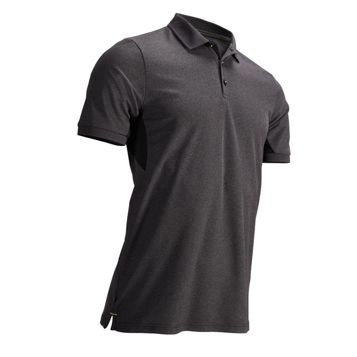 Men's Golf Light Polo Shirt - Mottled Black