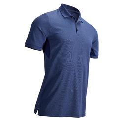 Golfpolo voor heren warm weer gemêleerd blauw