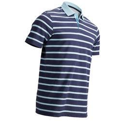 男款溫和天候短袖高爾夫POLO衫-天空藍