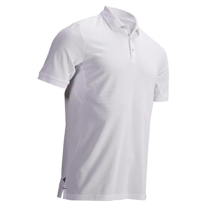 Golf Poloshirt Herren atmungsaktiv weiß