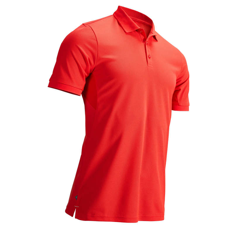 MENS WARM WEATHER GOLF CLOTHING Golf - MEN'S CORAL RED WW POLO INESIS - Golf Clothing