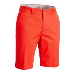 男款溫和氣候高爾夫短褲-珊瑚紅