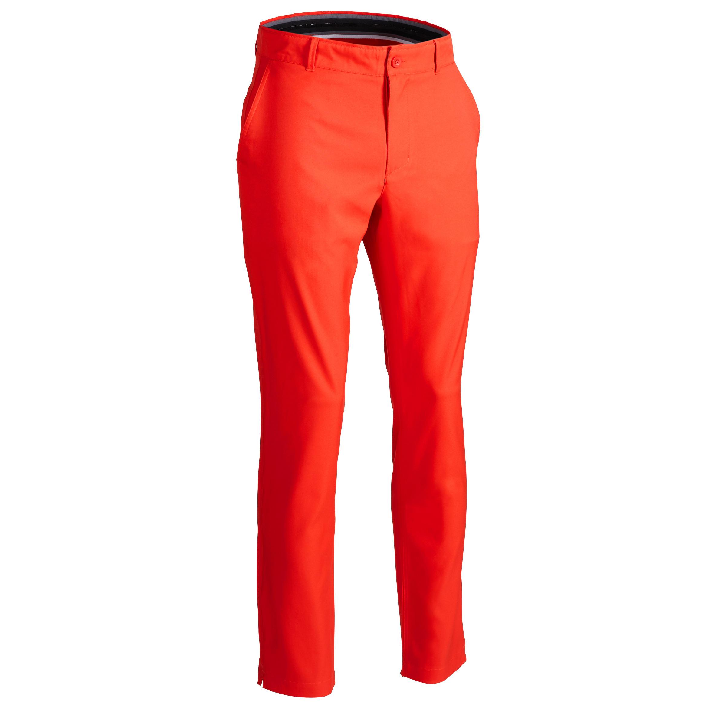 Pantalón de golf hombre 900 para clima caluroso, rojo