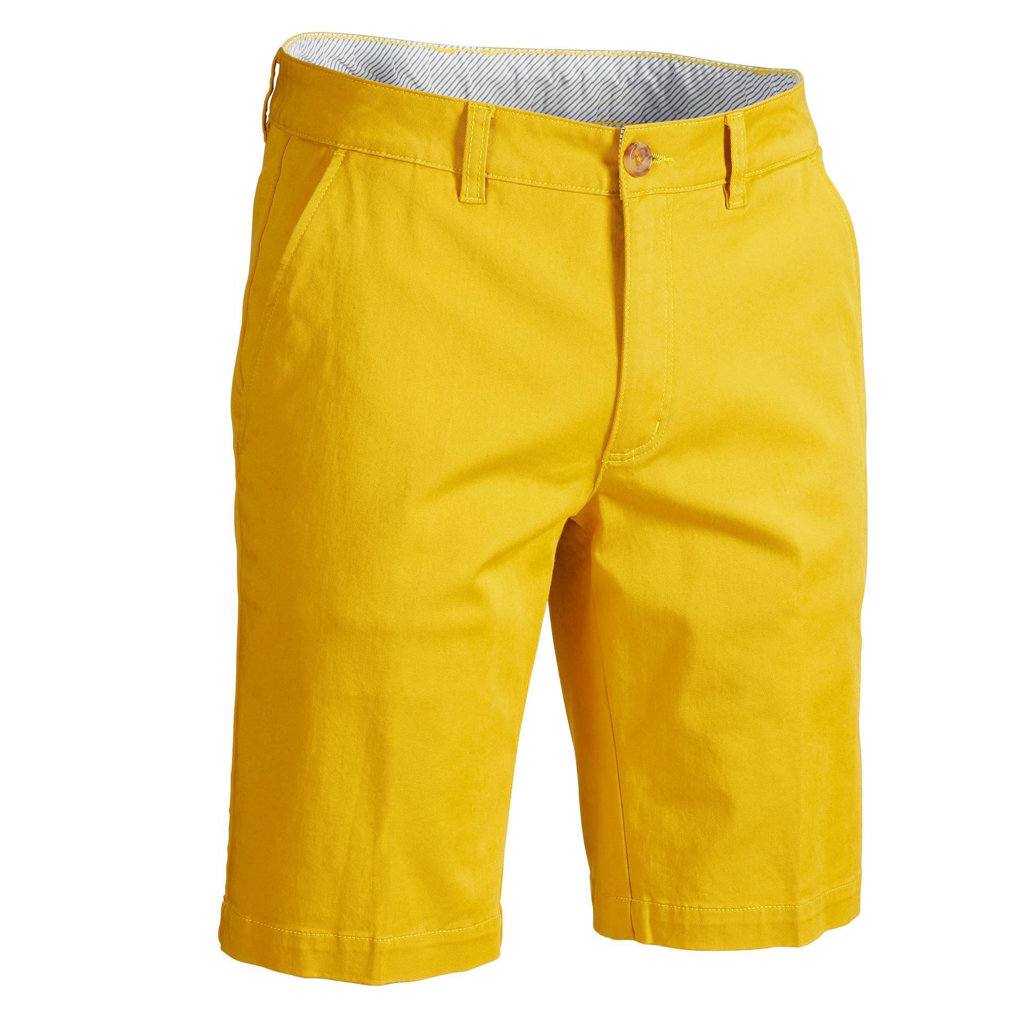 Inesis Golfshort voor heren zacht weer geel kopen