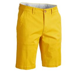 Golfshort voor heren zacht weer geel