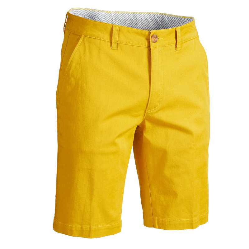 ABBIGLIAMENTO GOLF UOMO TEMPO MITE Golf - Bermuda golf uomo gialli INESIS - Abbigliamento e scarpe golf