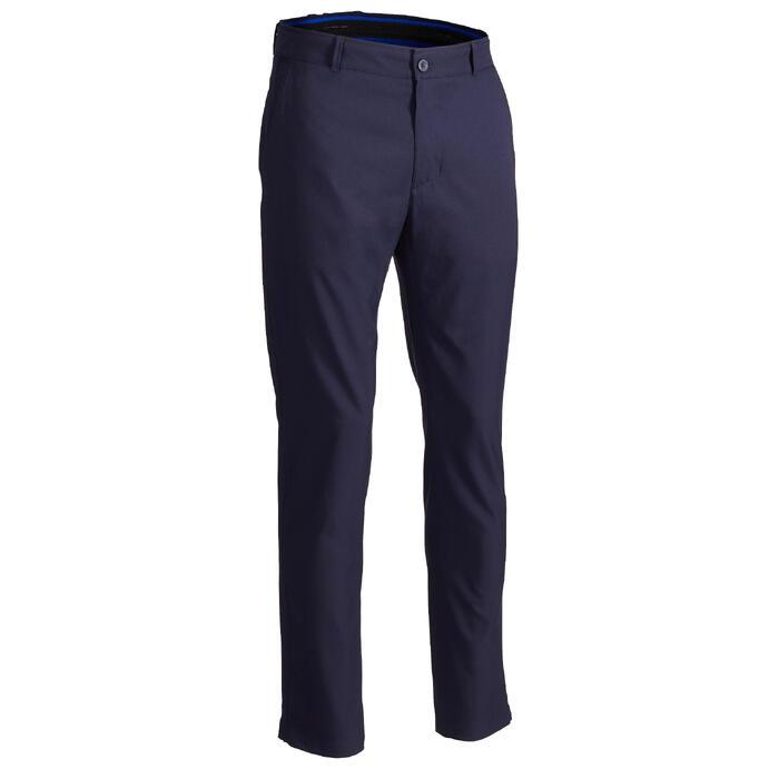 Ademende golfbroek voor heren marineblauw