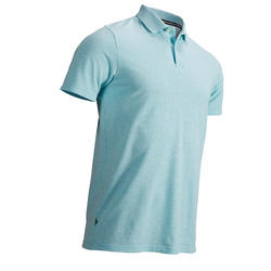 Men's Golf Short Sleeve Polo Shirt - Mottled Mint
