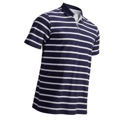 NAVY WHITE MEN'S MILD WEATHER SHORT SLEEVED GOLF POLO
