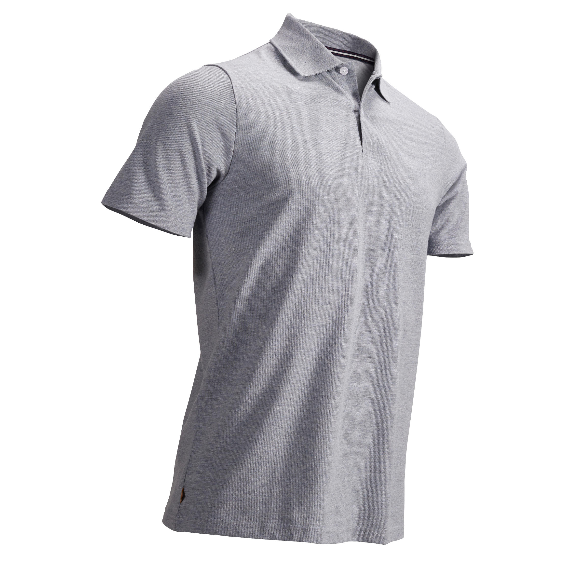 Men's Golf Polo T-Shirt 500 Heather Grey