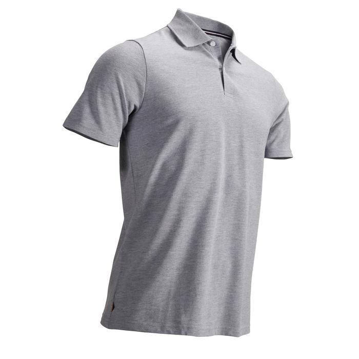 Golf Poloshirt kurzarm Herren grau meliert
