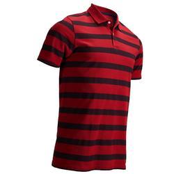 男款溫和天候短袖高爾夫POLO衫-軍藍色