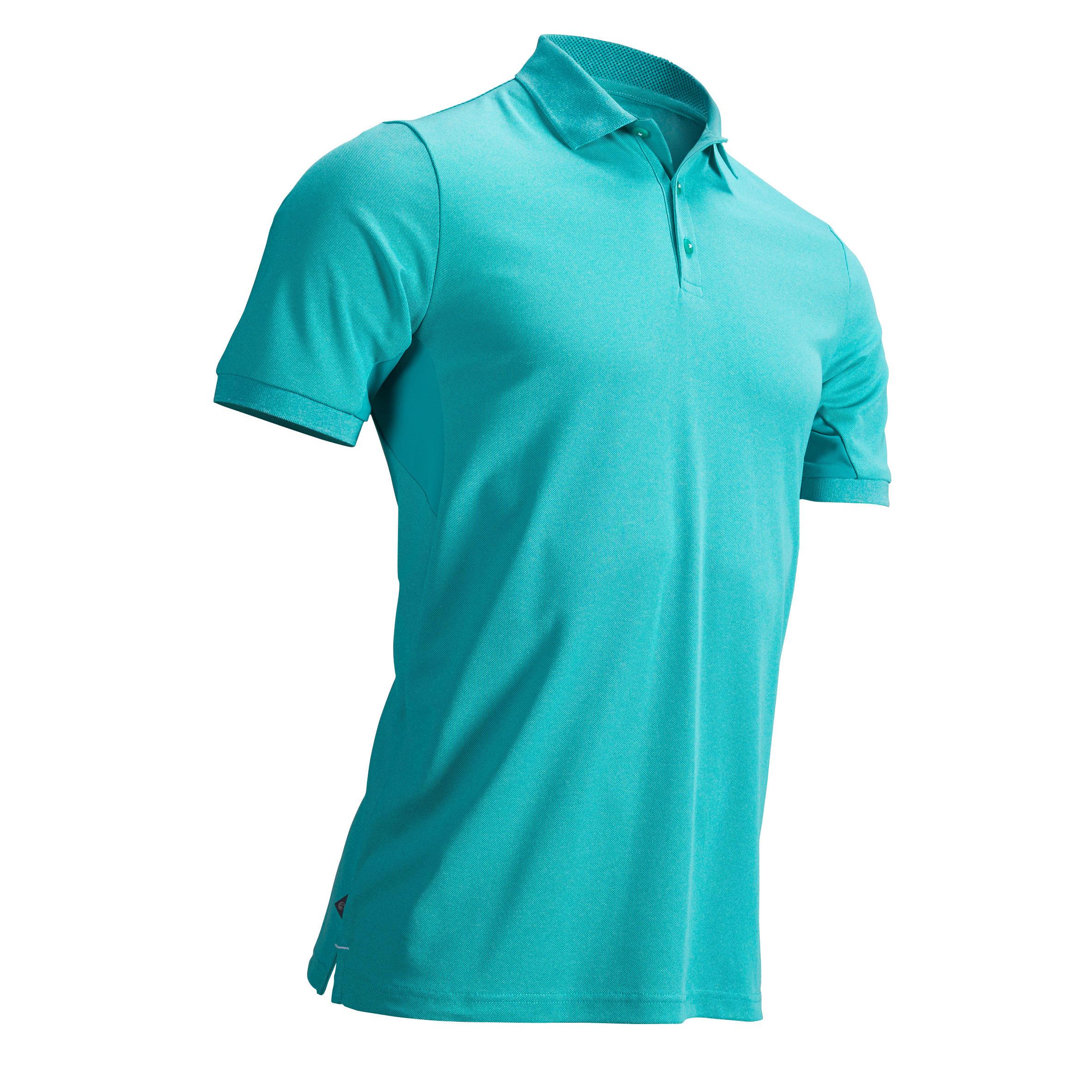 Inesis Golfpolo voor heren warm weer groen turquoise