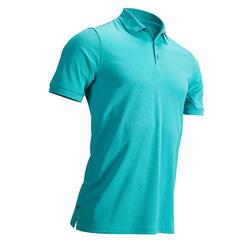 Golfpolo voor heren warm weer groen/turkoois
